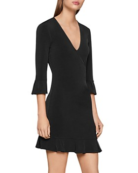 BCBGENERATION - Ruffled Faux-Wrap Dress