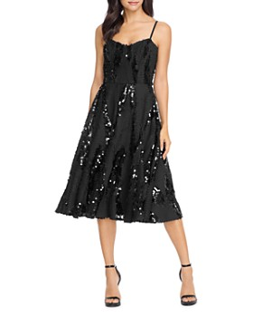 Dress the Population - Flora Sequin Fit-and-Flare Dress