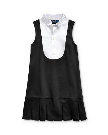 Ralph Lauren - Girls' Ponte Tuxedo Dress - Little Kid