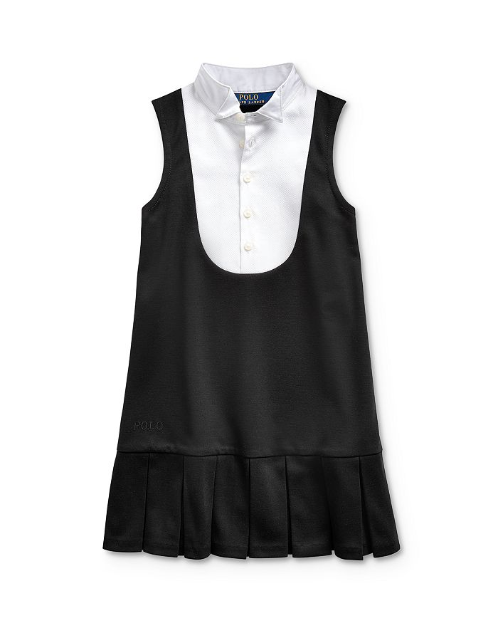 Ralph Lauren POLO RALPH LAUREN GIRLS' PONTE TUXEDO DRESS - LITTLE KID