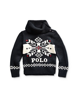 Ralph Lauren - Girls' Snowflake Turtleneck Sweater - Little Kid