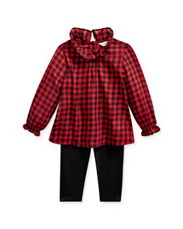Ralph Lauren - Girls' Buffalo Check Top & Leggings Set - Baby