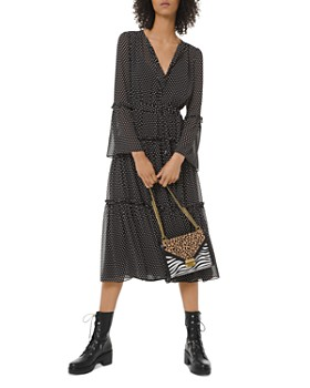 MICHAEL Michael Kors - Tiered Ruffled Polka Dot Midi Dress
