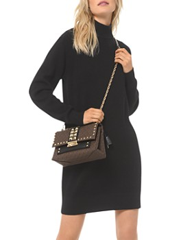 MICHAEL Michael Kors - Ribbed Turtleneck Sweater Dress