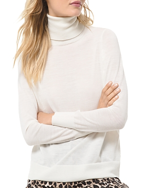 Michael Michael Kors Semi-Sheer Turtleneck Sweater