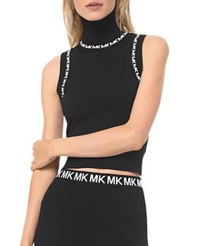 MICHAEL Michael Kors - Logo-Trimmed Turtleneck Tank