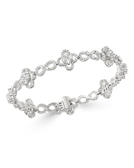 Bloomingdale's - Diamond Clover Infinity Bracelet in 14K White Gold,  4.0 ct. t.w. - 100% Exclusive