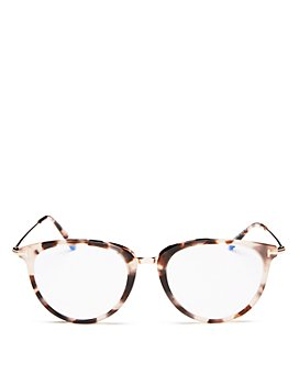 Tom Ford - Women's Round Blue Light Glasses, 51mm