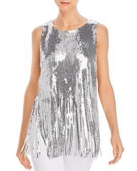 Endless Rose - Fringed Sequined Top