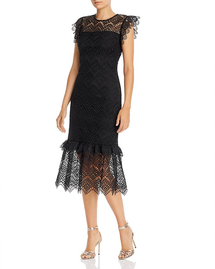 Shoshanna - Antoni Eyelet Sheath Dress