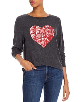WILDFOX - Baggy Beach Snake Heart Sweatshirt