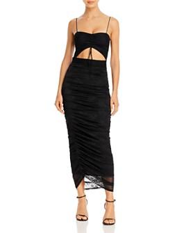 For Love & Lemons - Sleeveless Ruched Cutout Dress