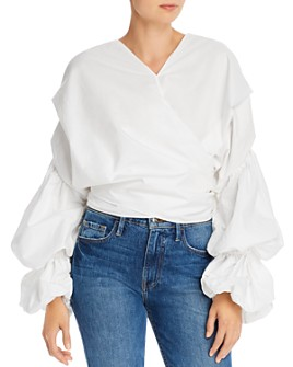 Acler - Melross Puff-Sleeve Wrap Top