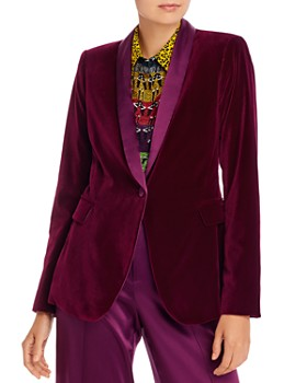 Alice and Olivia - Macey Velvet Blazer