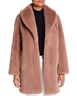 Donna Karan - Oversized Shawl-Collar Teddy Coat