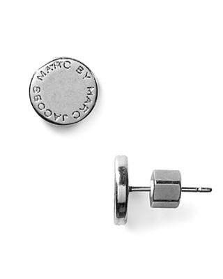 Marc By Jacobs Logo Disc Stud Earrings Bloomingdale S
