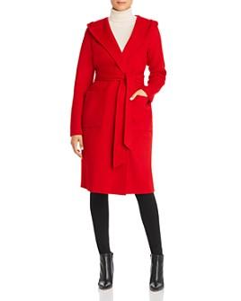Elie Tahari - Shea Wool-Blend Hooded Wrap Coat