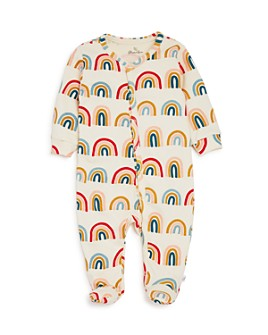Oliver & Rain - Girls' Rainbow Print Footie - Baby
