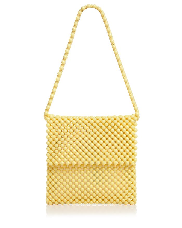 Faithfull The Brand Beaded Shoulder Bag In Pale Yellow
