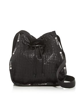 LeSportsac - Nadine Croc-Embossed Drawstring Shoulder Bag