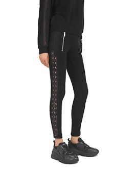 The Kooples - Sweet Lace-Detail Skinny Sweatpants