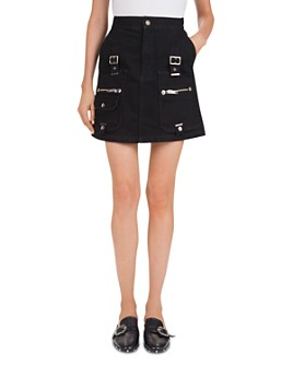 The Kooples - Hardware-Detail Denim Mini Skirt