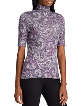 Ralph Lauren - Paisley-Print Turtleneck Top