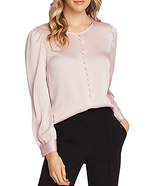 Vince Camuto Tops SATIN PUFF-SHOULDER TOP