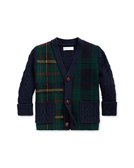 Ralph Lauren - Boys' Plaid Patchwork Cardigan - Baby