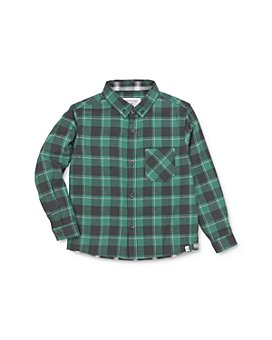 Sovereign Code - Boys' Logic Flannel Button-Down Shirt - Little Kid, Big Kid