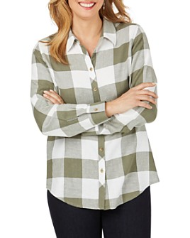 Foxcroft - Rhea Buffalo-Plaid Shirt