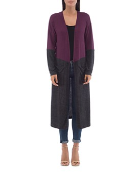 B Collection by Bobeau - Ramona Cozy Color-Block Duster Cardigan