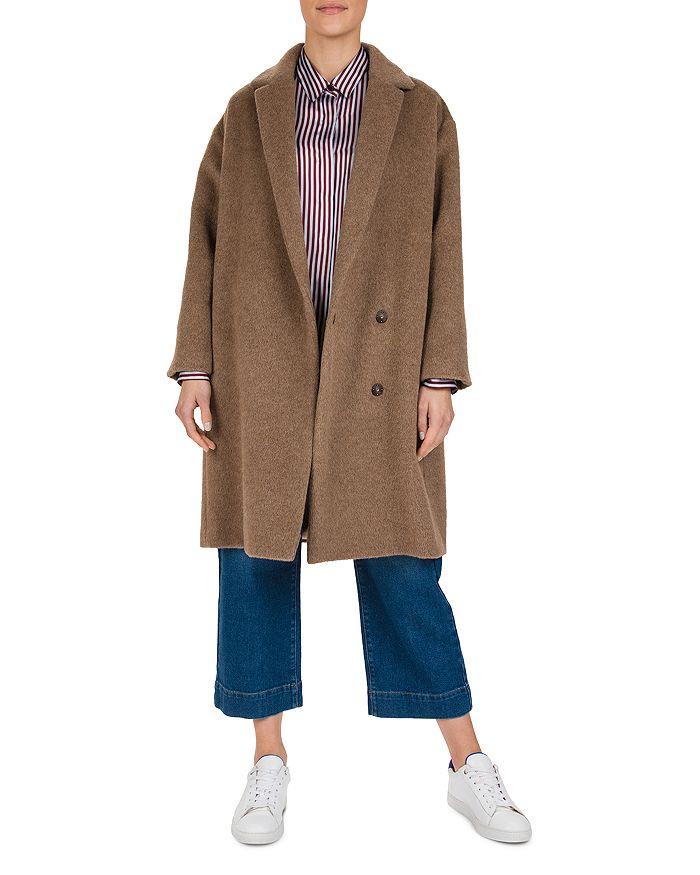 Gerard Darel Pablo Back-band Coat In Camel