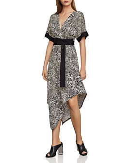BCBGMAXAZRIA - Cheetah Print Tie-Waist Dress