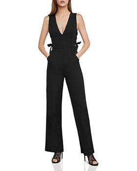 BCBGMAXAZRIA - Lace-Up Wide-Leg Jumpsuit