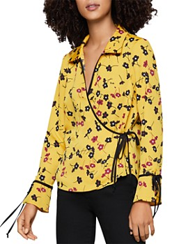 BCBGENERATION - Floral Wrap Top