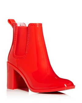 Jeffrey Campbell - Women's Hurricane Square-Toe Block-Heel Chelsea Boots