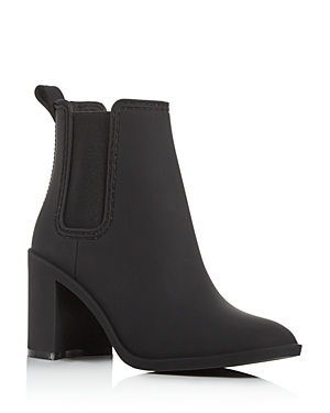 Jeffrey Campbell Women\\\'s Hurricane Square-Toe Block-Heel Chelsea Boots