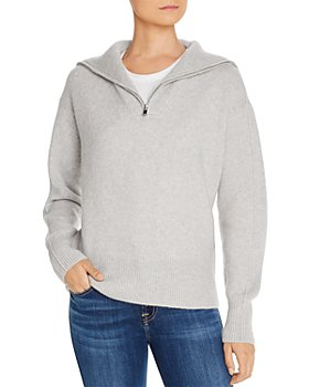 C by Bloomingdale's - Half-Zip Cashmere Sweater - 100% Exclusive
