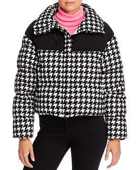 Moncler - Nil Houndstooth Short Down Coat