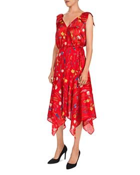 The Kooples - Floral-Print Midi Wrap Dress
