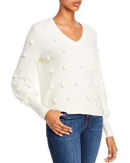 AQUA - Pom-Pom Balloon-Sleeve Sweater - 100% Exclusive