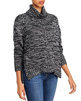 AQUA - Metallic Marled Turtleneck Sweater - 100% Exclusive