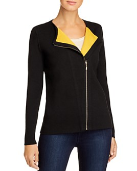 Sioni - Zip-Front Cardigan