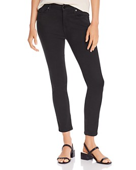 7 For All Mankind - Skinny Ankle Jeans in Black Noir