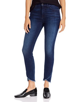 7 For All Mankind - Skinny Ankle Jeans in Nighttime Hudson