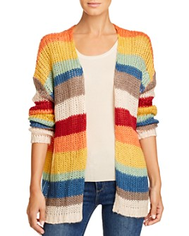 Elan - Striped Open Cardigan