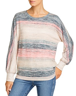 Cupio - Striped Dolman-Sleeve Top
