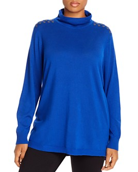 Joseph A Plus - Grommet-Shoulder Turtleneck Sweater