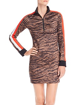 PAM & GELA - Tiger Print Track Dress